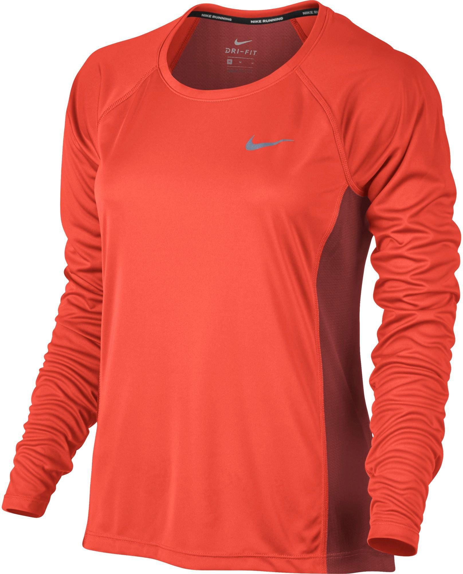 0e43c9fdaf337 Galleon - NIKE Women's Dri-Fit Miler Long Sleeve T-Shirt Fresh Mint/Electro  Green/Reflective Silver 831540-300 (Medium)