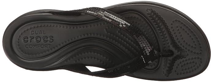 Negro Mujer Sandalia Black 34-35 EU Crocs Capri V Sequin Flip