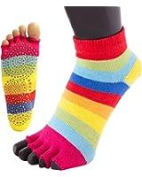 TOETOE Yoga & Pilates - Anti-Slip Trainer Open Toe Socks