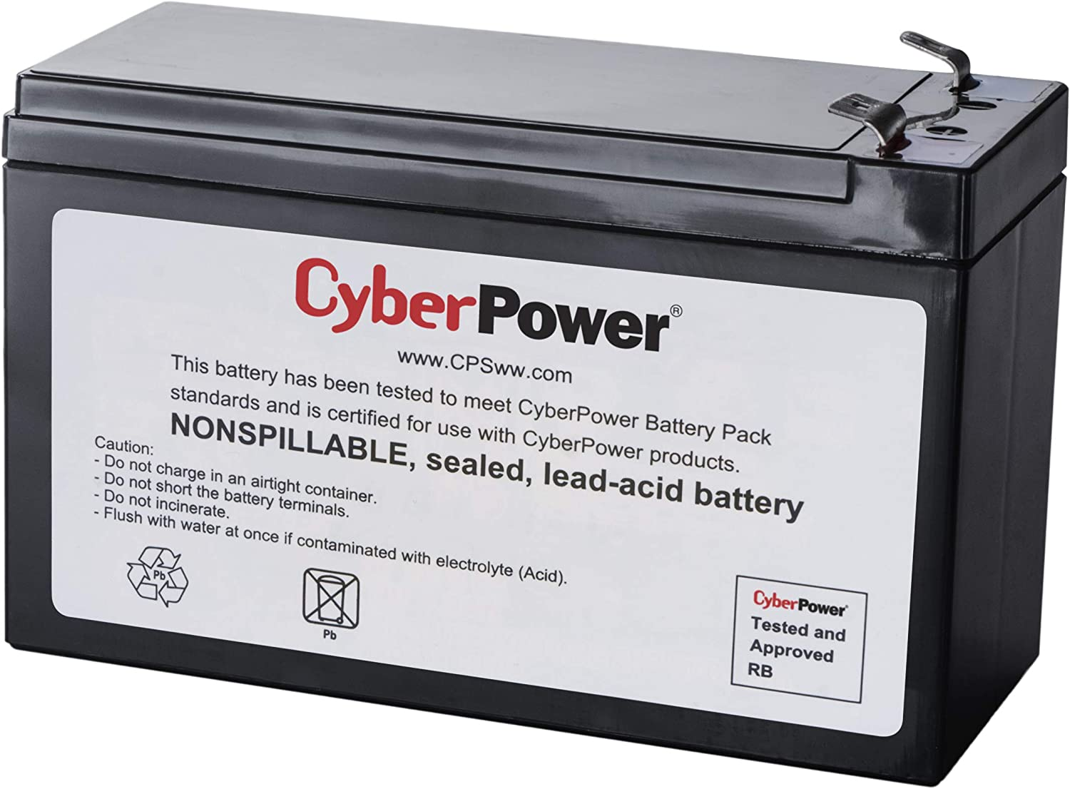 CyberPower RB1290X2 Replacement Battery Cartridge, User Replaceable