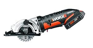 "WORX WX523L 20V 3-3/8"" Max Lithium-Ion 85mm Plunge Circular Saw"