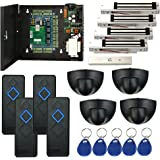 Keyless 4 Doors Entry Control Systems Kits & Exit Motion Sensor +600lbs Force Electronmagnetic 110