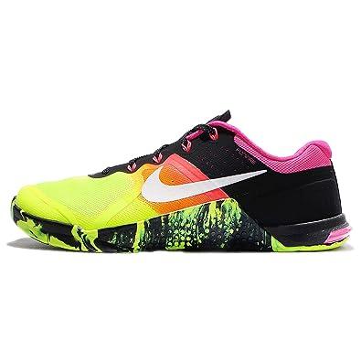 Nike Mens Metcon 2 Shoes Volt/Black/White 701 Size 14