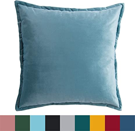 2 pcs Taies d'oreiller 45 x 45 cm Bleu clair ETO