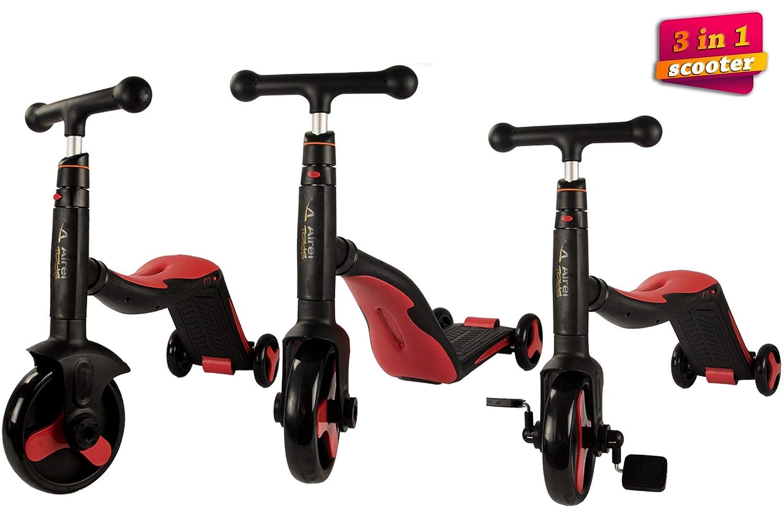 Airel Patinete 3 en 1   Patinete de 3 Ruedas   Patinete Reversible   Scooter 3 en 1   Correpasillos Bicicleta Niños