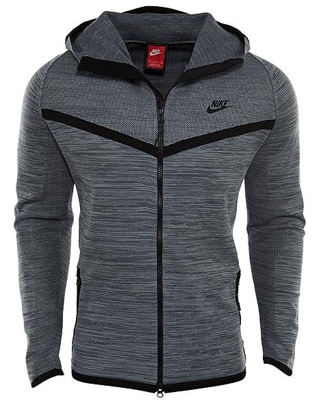 Grey Jacket Nike Tech Knit Windrunner (728685 043) XL