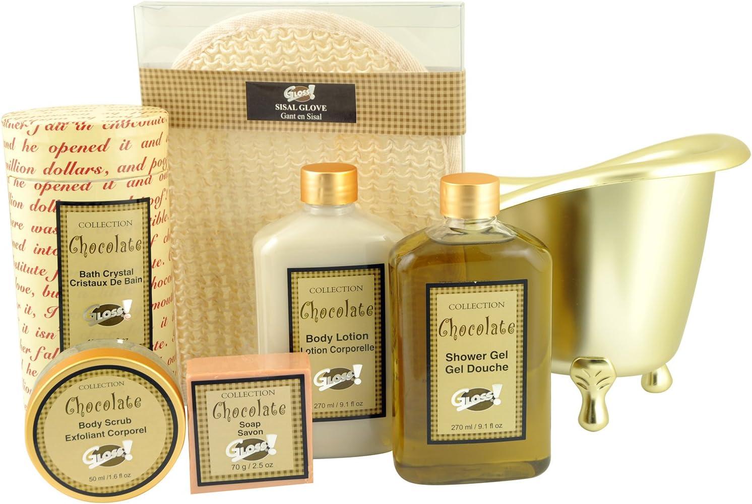 Gloss - caja de baño, caja de regalo para mujeres - Bañera de Baño Regalo - Chocolate: Amazon.es: Belleza