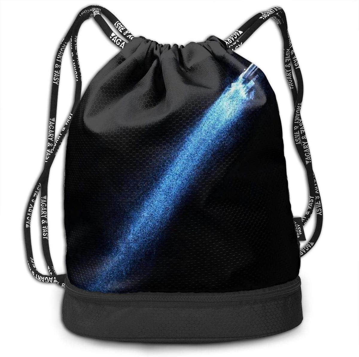 GymSack Drawstring Bag Sackpack Rocket Sport Cinch Pack Simple Bundle Pocke Backpack For Men Women
