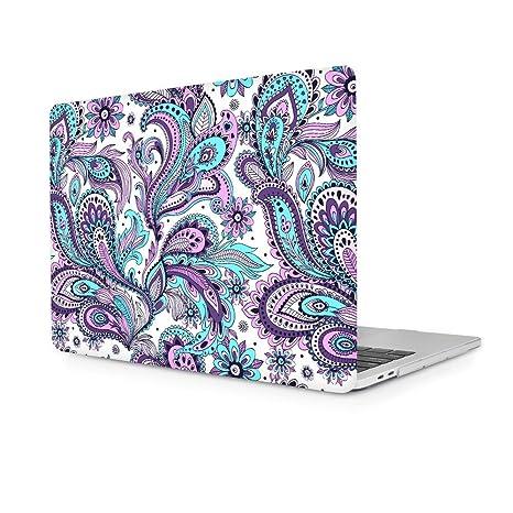 Carcasa MacBook Pro 15, TwoL Ultra Slim Plástico Funda Dura Carcasa para MacBook Pro 15,4 Pulgadas A1286 (Cachemir)