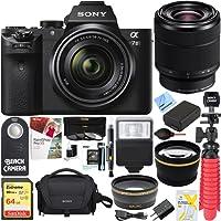 Beach Camera Sony Alpha 7II Mirrorless E-mount Camera with Full Frame Sensor and FE 28-70mm F3.5-5.6 OSS Lens SEL2870 + 64GB SDXC Memory Kit + Spare Battery Accessory Bundle