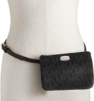 Michael Kors MK Signature Belt Wallet Fanny Pack, Travel Leather Medium: Amazon.es: Deportes y aire libre