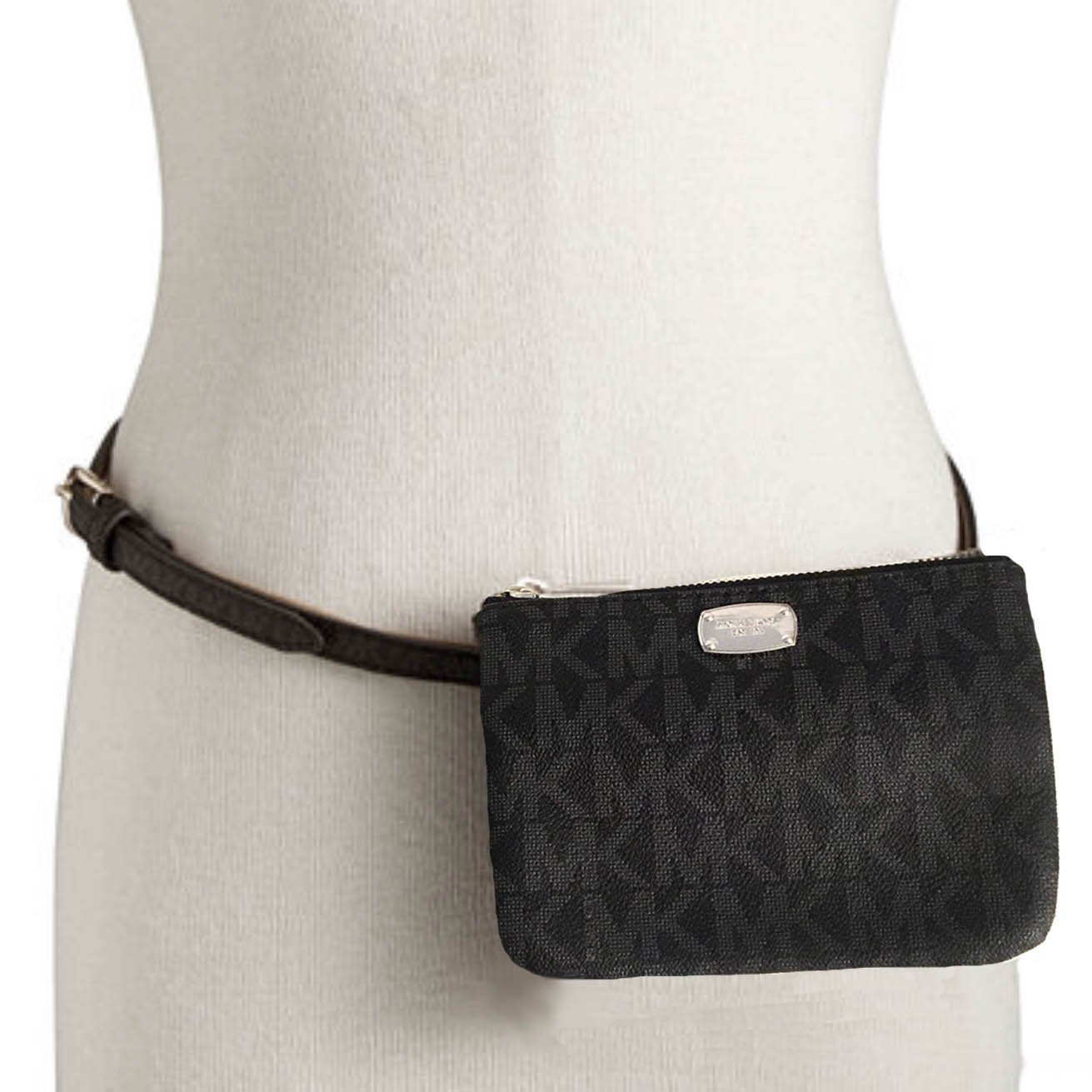 96afc538b66fd2 Amazon.com: Michael Kors MK Signature Belt Wallet Fanny Pack, Travel  Leather Medium: Sports & Outdoors