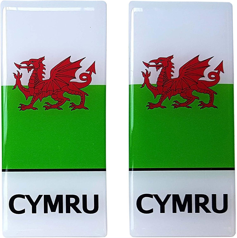 Pegatina de la bandera de Gales para matrícula de coche, resina 3D ...