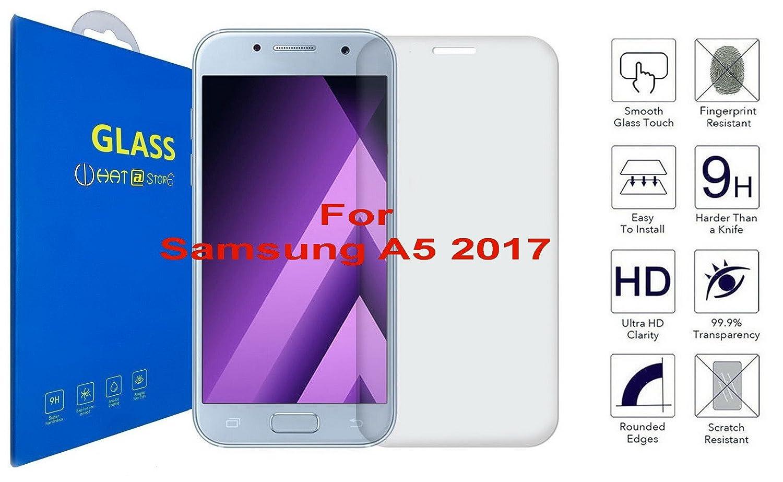 Samsung Galaxy A5 2017 - Curvo 3D Cristal Templado Protector de Pantalla, 3D completo borde curvado [ borde a borde ] para Samsung Galaxy A5 (2017) / ...