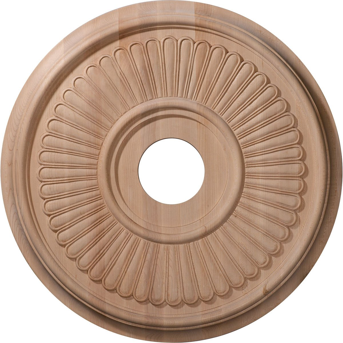 Ekena Millwork CMW16BEMA 16-Inch OD x 1 1/8-Inch P Carved Berkshire Ceiling Medallion, Maple