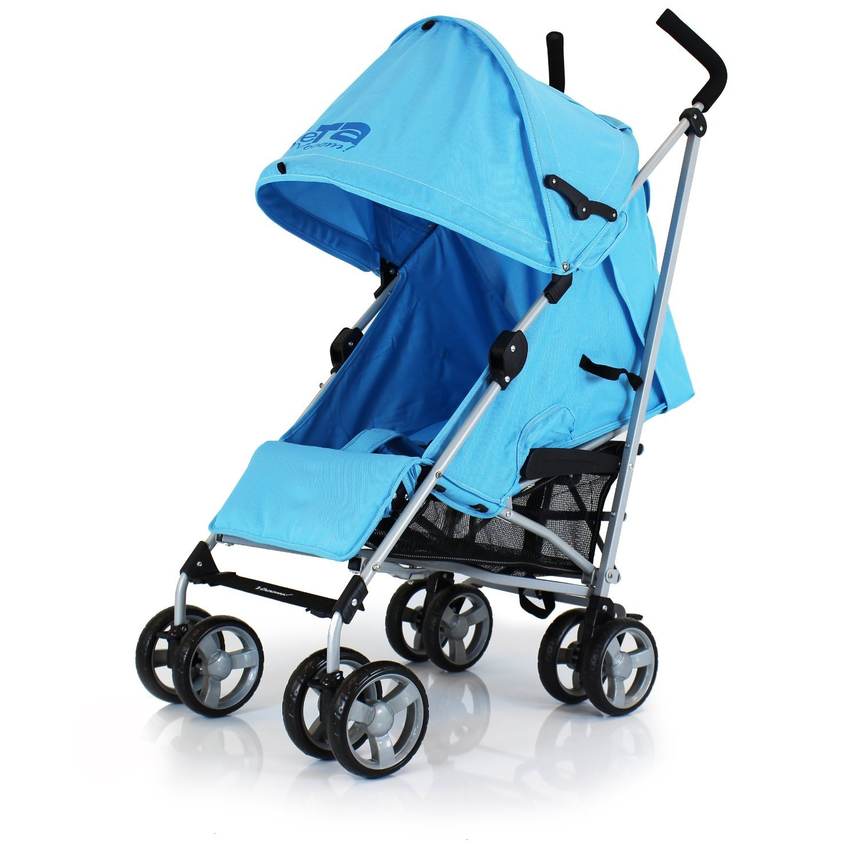 Cochecito de bebé completo con protector de lluvia (Azul): Amazon.es: Bebé