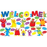 Scholastic Teacher's Friend Monsters Welcome Bulletin Board, Multiple Colors (TF8416)