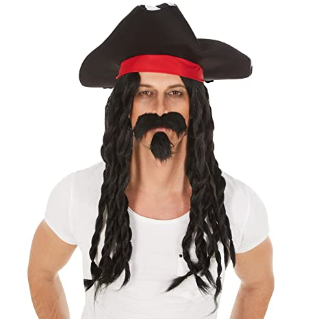 2bf7dc3838bf3 dressforfun Peluca de Capitán Jack para Hombre