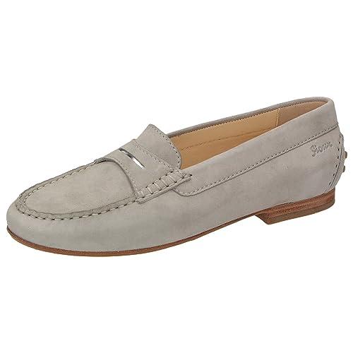 Sioux - Mocasines de Piel para mujer Gris gris, color Gris, talla 39 UE: Amazon.es: Zapatos y complementos