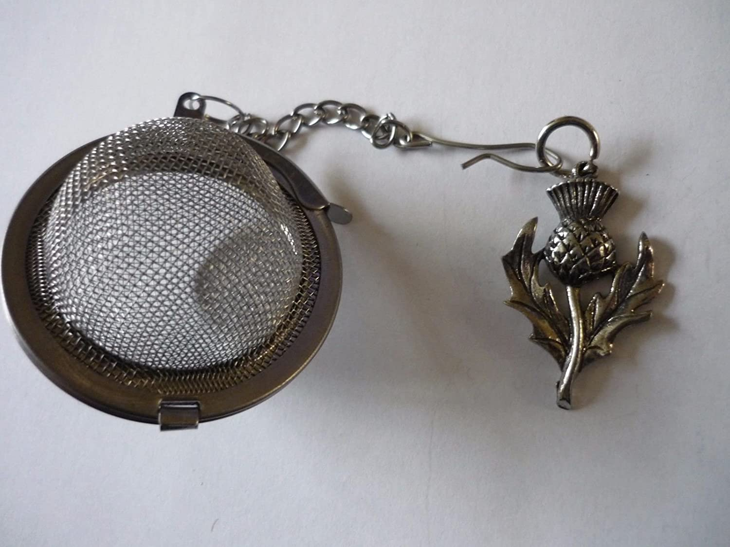 Fine Pewter Scottish Thistle codew35 Tea Ball Mesh Infuser Stainless Steel Sphere Strainer Posted by US Gifts for All 2016 from Derbyshire UK /…