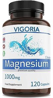 Citrato de magnesio 1000 mg 120 cápsulas para 2 meses - Alivia el cansancio y la fatiga - Salud…
