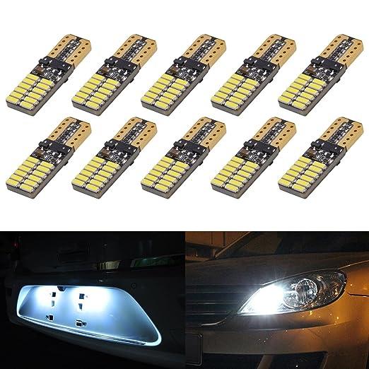 2 opinioni per Katur, 2 lampadine LED bianche per auto, 13 W per T10, W5W, 2825, 168, LED