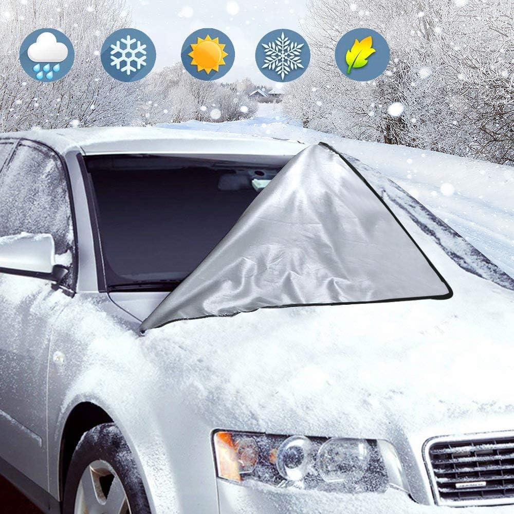 la poussi/ère Le Soleil 210 x 120 cm Fixation magn/étique Le Gel et la Neige Les EIS Protection Contre Les Rayons UV pour lhiver ORLEGOL Protection de Pare-Brise de Voiture
