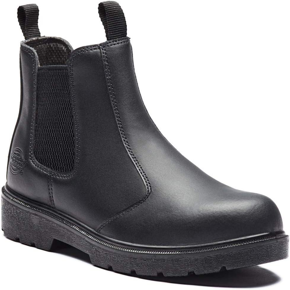 Dickies FA23345 SBL 8 S1-P Super Botas de seguridad, color negro, talla 8