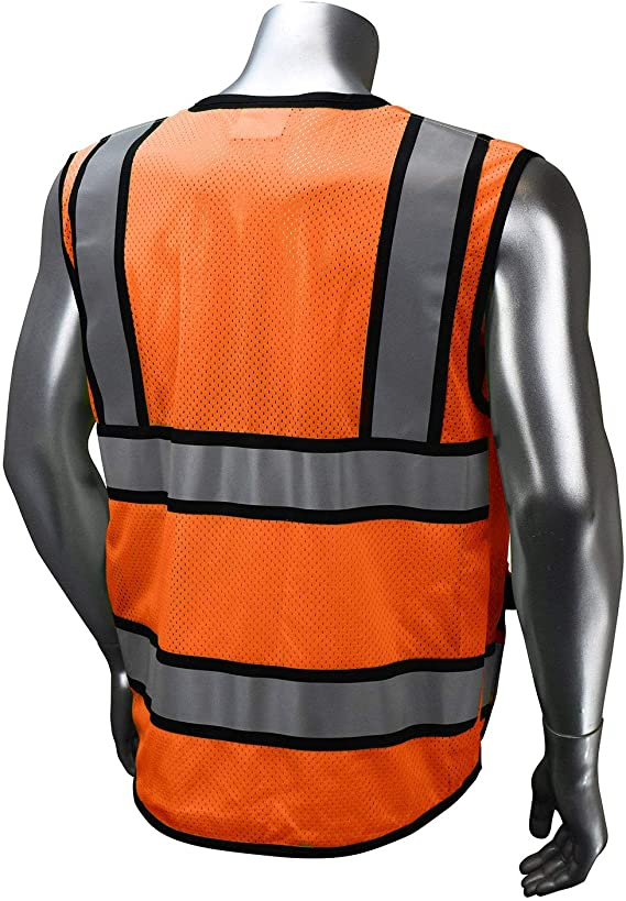 XXL Chalecos reflectantes 2 piezas Chaleco de seguridad reflectante de alta visibilidad con tiras reflectantes y bolsillos transparentes para identificaci/ón