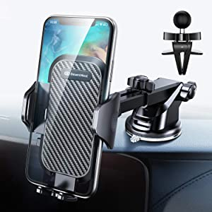 96503f1c9f1 ENTER DesertWest Cell Phone Holder, Car Phone Mount  Dashboard/Windshield/Air Vent Compatible with iPhone XR Xs Max Xs X 8 7 6+,  Samsung Galaxy S10 S10+ S10e ...