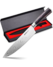 WoneNice Chef Knife,Professional Kitchen Knife, 8-inch German High Carbon Stainless Steel Kitchen Knives with Ergonomic Handle, Ultra Sharp, Wear Resistant, Anti Corrosion, with Gift Box
