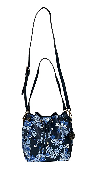 23a77d81c20b MICHAEL Michael Kors GREENWICH Women's Shoulder Medium Bucket bag Handbag ( Navy)