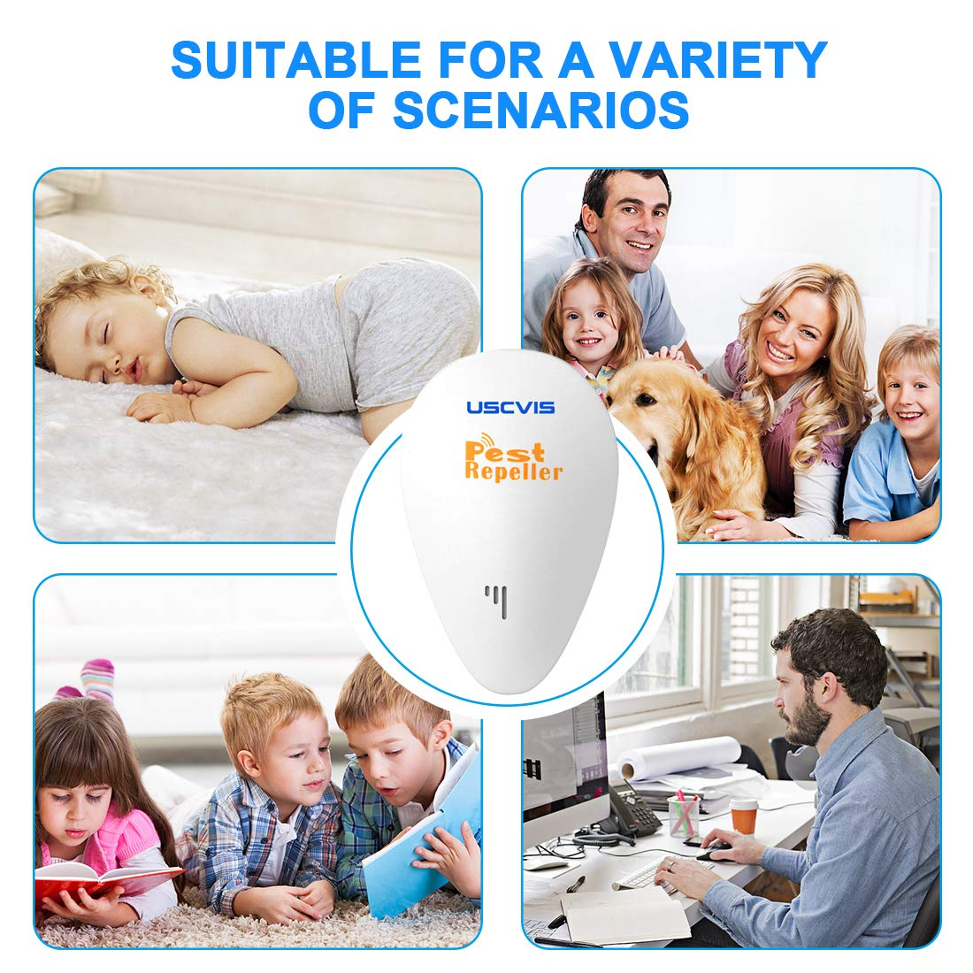 4 Pack Flies Bed Bugs Ants Electronic Insect Repellent Against Mice /& Mouse XFJ Ultrasonic Pest Repeller Fleas Indoor Plug in Night Light Pest Control Anti Moths Cockroaches