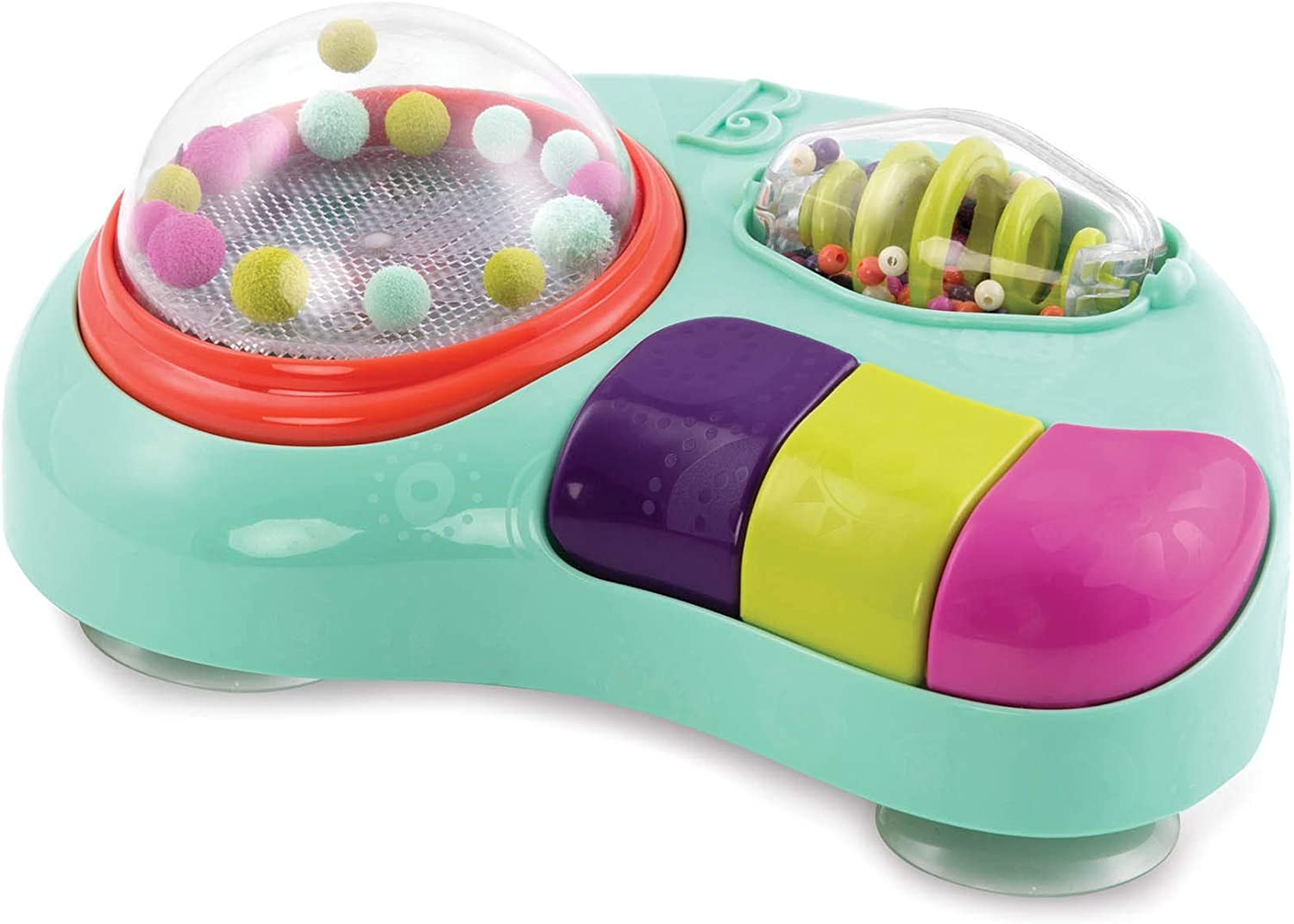 B. Toys – Whirly Pop – Lights & Music Station Baby Toy with Suction Cups – Non-Toxic