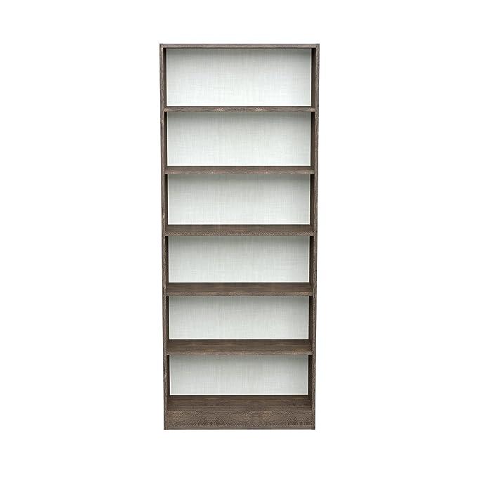 INFINIKIT Haven High Bookshelf , Roble gris, 79x198x28 cm: Amazon ...