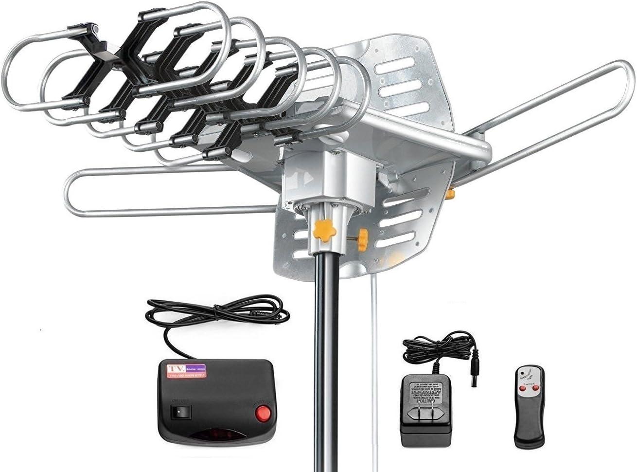Antenne HD numérique amplifiée HD d'extérieur avec Rotation à 360 degrés motorisée UHF/VHF/FM avec télécommande Infrarouge TNB-WA2608