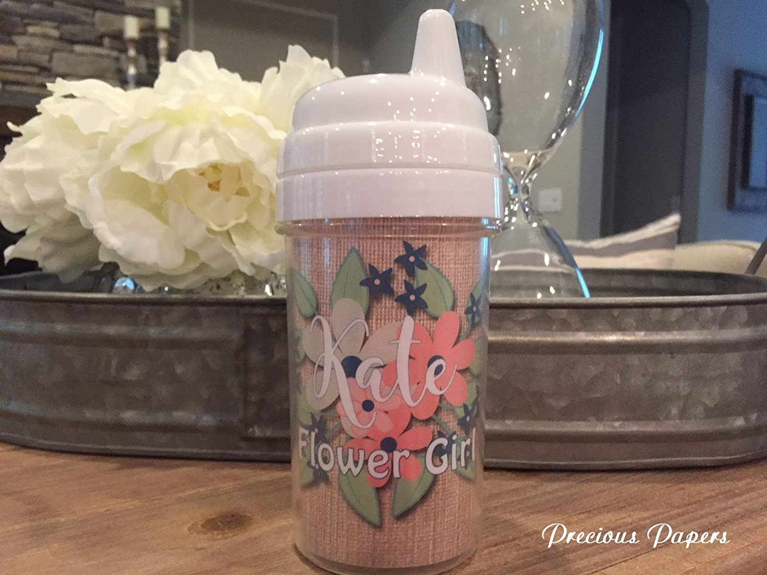 Personalized Flower girl cups, flower girl sippy cup, flower girl toddler cup, flower girl gifts