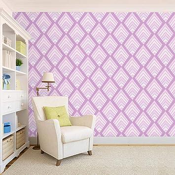 100yellow Purple Color Printed Self Adhesive Peel Stick Wallpaper Pvc Vinyl 44 Sqft Multicolour Amazon In Home Kitchen