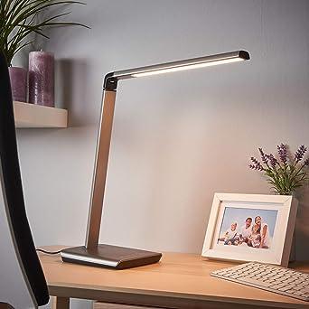 3-in-1 LED Schreibtischlampe Tischlampe dimmbar Leselampe Büroleuchte DE PL