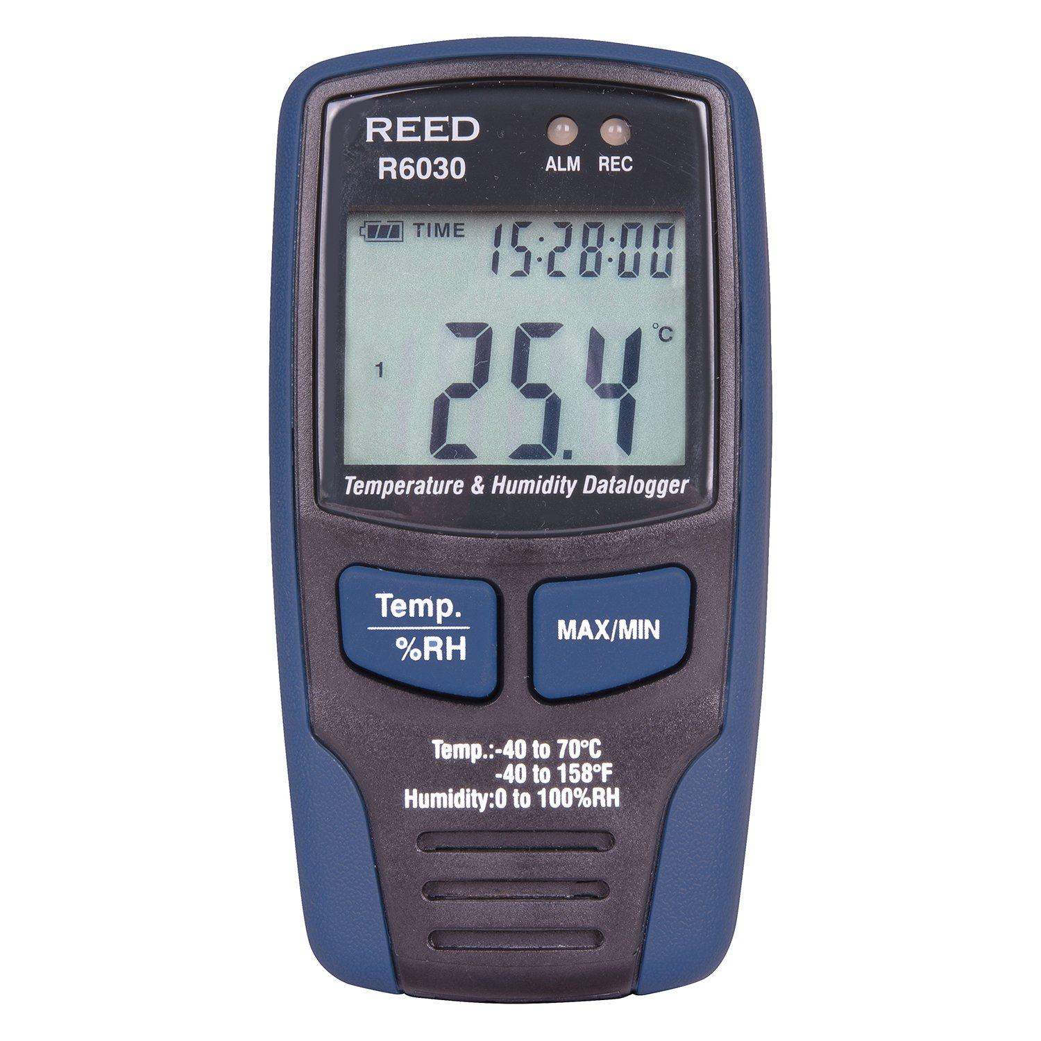 REED Instruments - R6030 Temperature and Humidity Datalogger - Stores Up To 32,000 Readings