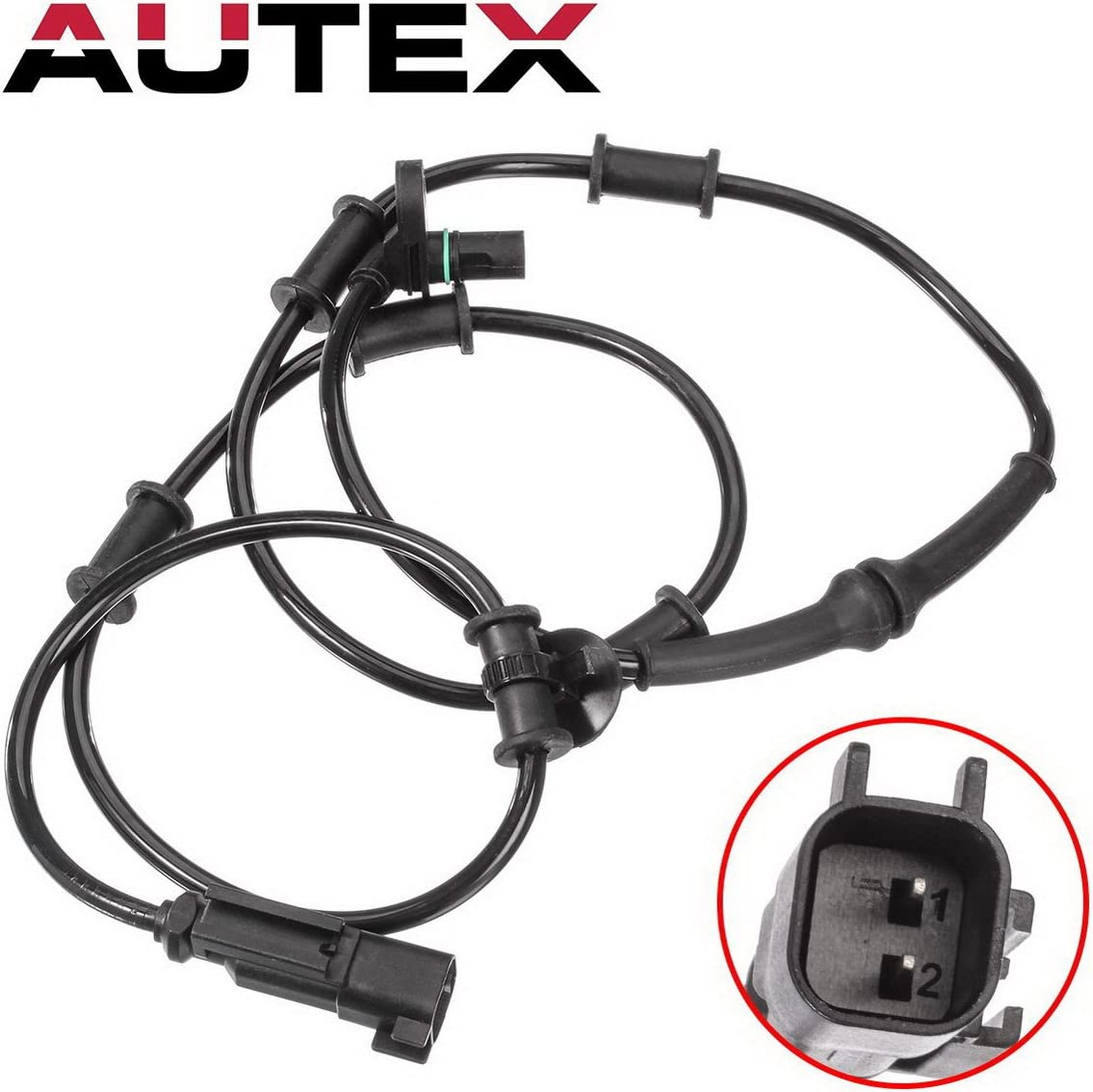 2 X ABS Wheel Speed Sensor W// Connector Front Left //Right Fits:RAM 2500 3500 4WD