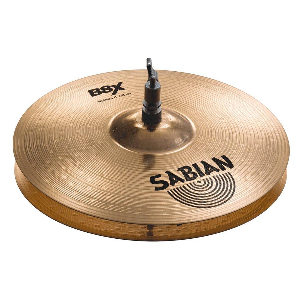 'Sabian 41302x B8x–flach-Akku, Hats von 13Medium/Heavy, natürliches Finish natürliches Finish Suprovox 41302X