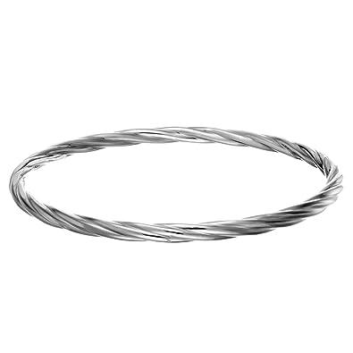 b6030fd1b198 Silverly Frauen .925 Sterling Silber Runden Drehen Seil Stapelbare Armreif  Armband  Amazon.de  Schmuck