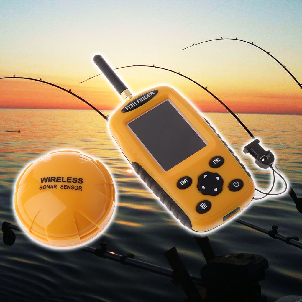 Lergo Fish Finder Sonar Sensor 125 Khz Inalámbrico 0.6-36m ...