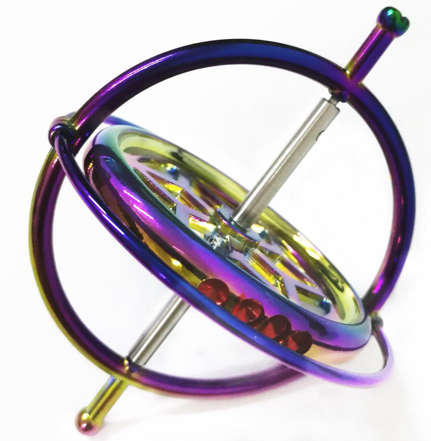 Joytech Precision Gyroscope Kill Time Metal Anti-Gravity Spinner Balance Toy Colorful JA05 by Joytech (Image #4)