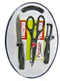 Prestige Tru-Edge 43018 Kitchen Knife Set with Cutting Board, 3-Pieces