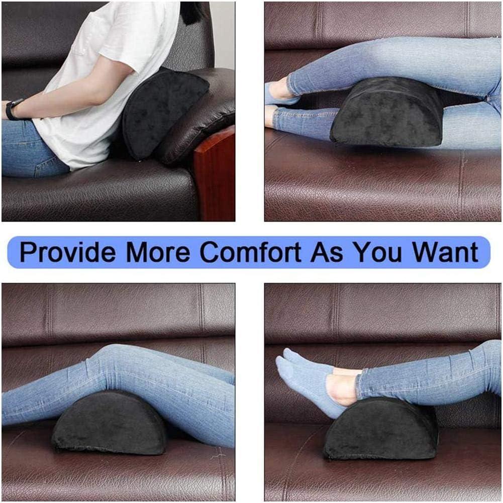 Xploit Foot Rest Under Desk Cushion with Fluffy /& Soft Memory Foam for Lumbar Knee /& Back Support Pad /& Rocker Foot Rest