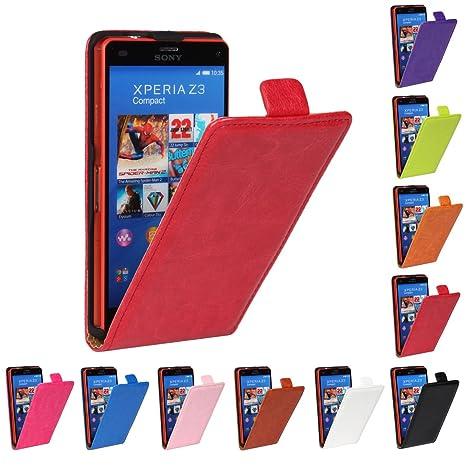 Amazon.com: for Sony Xperia Z1 L39h Flip Case Cover PU ...