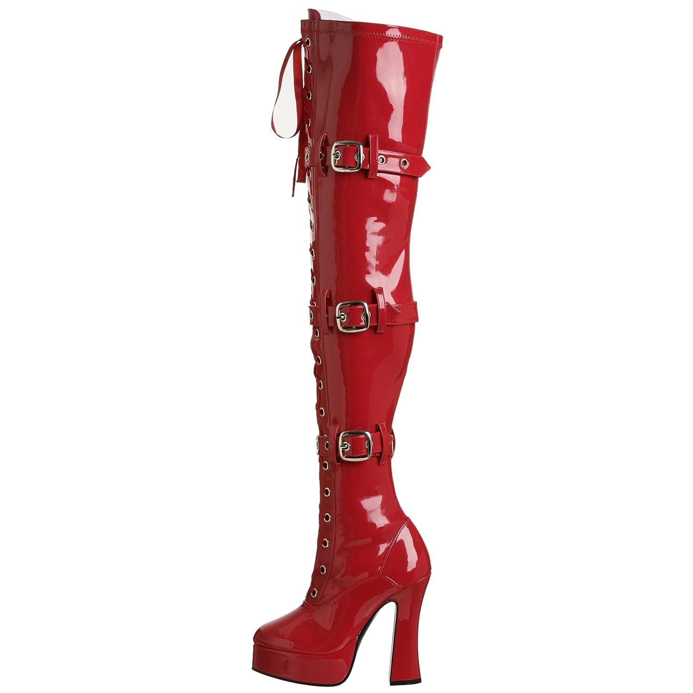 Pleaser Damen ELECTRA-3028 Over-Knee Stiefel Stiefel Over-Knee Schwarz cbdc3e