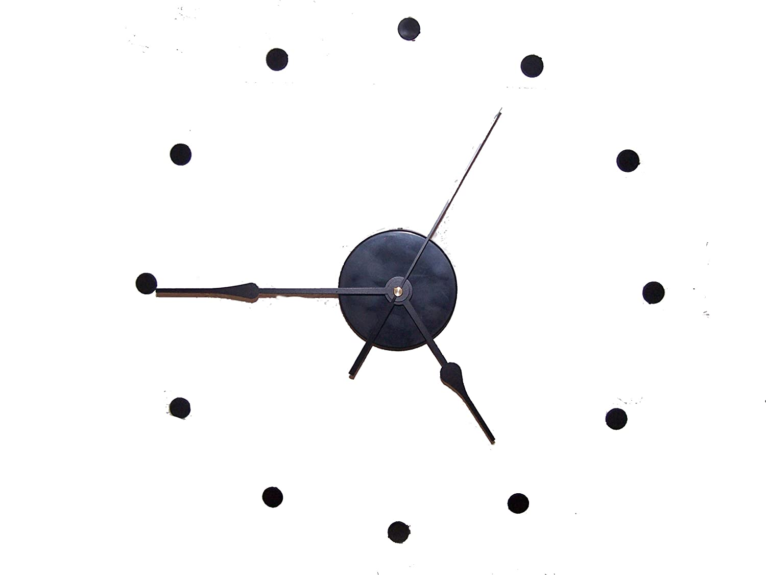 Amazon large wall clock kit continuous sweep movement 8 amazon large wall clock kit continuous sweep movement 8 hands 69 second diy silent home kitchen amipublicfo Images